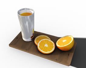 orange juice 3D asset VR / AR ready
