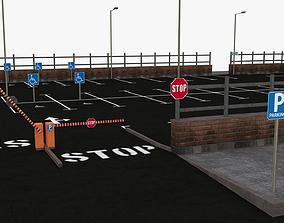 Parking Lot - Scene 3D model