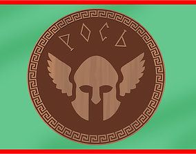 Amulet totem warrior for CNC or printing STL coin