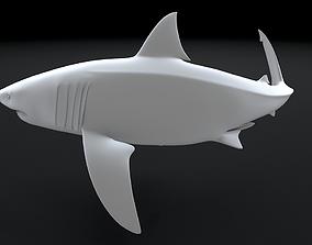 ocean Great White Turn 3D Printable Model