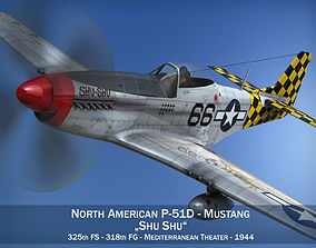 North American P-51D Mustang - Shu Shu 3D model aircraft