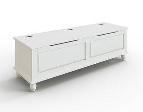 3D model HORNSUND Bench white stained