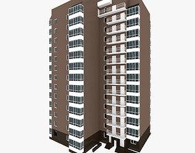 3D model Simple Residential Building 8