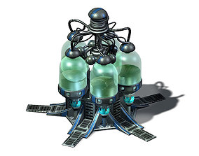Machinery - Spacecraft - Functional Objects 06 3D model