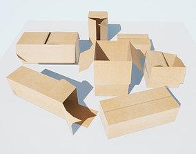 Boxes LOW-POLY PBR 3D asset