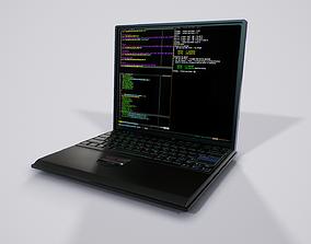 Lowpoly Thinkpad Laptop - Game ready PBR 3D model