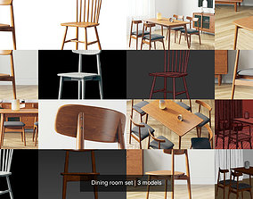 seat Dining room set 3D