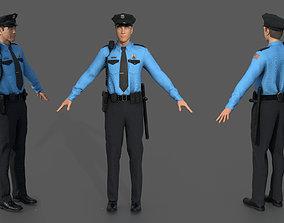 3D model PBR POLICE OFFICER