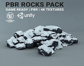 3D asset snow Snow Rocks - PBR Pack - Game Ready