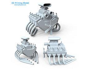 3D printable model Car Engine 8 Cylinders