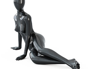 3D model Black female mannequin in a lying pose 51