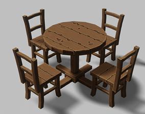 Table Set 04 3D asset