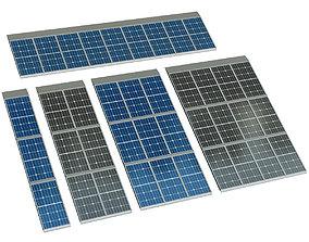 Solar cell panel 3D model
