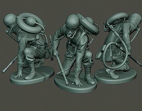 German soldier ww1 down G5 3D print model