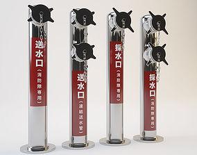 Japanese Fire Hydrant 3D japanese