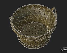 Wicker basket 3 3D asset