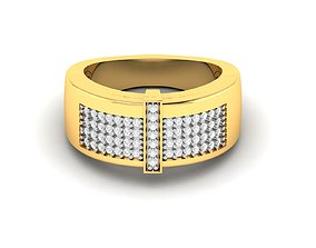 rings Men groom solitaire ring 3dm render detail