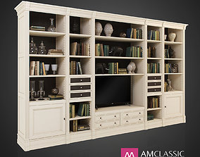AM Classic - N27 and Decor with 50 classic books and TV 3D