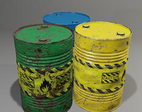Barrel with damage 3D model