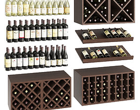 Wine set 3D
