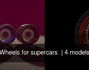 Wheels for supercars 3D