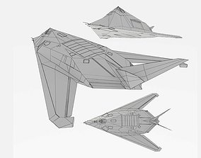 Lockheed F-117 Knighthawk Stealth fighter bomber 3D asset