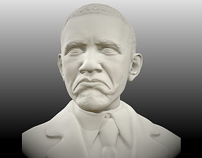 bust Obama not bad meme sculpt 3D print model