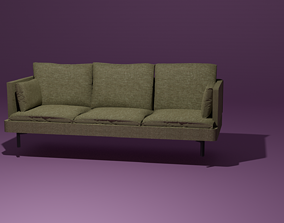 Couch 3D model minimalist