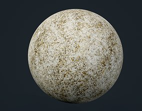 3D model Granite White Yellow Seamless PBR Texture