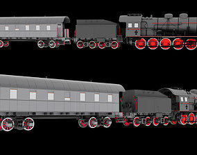 Steam Locomotive Train 3D