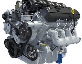 3D model Chevrolet Silverado V8 Engine