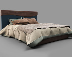 3D model Bed with blanked PBR