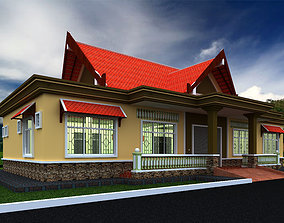 3D model commercial public building