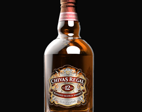 Chivas regal blended Scotch whiskey 3D