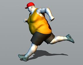 3D print model Running fat man