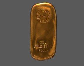 game-ready Gold Bar - Asset- Single Model - 50g