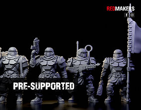 Alpha troops - Command Squad of the 3D printable model 2