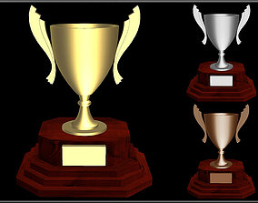 Trophy Cup 02 3D model low-poly
