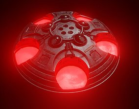 Modular Sci-fi Saucer 3D asset