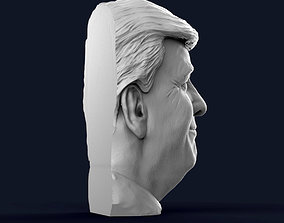 3D printable model Donald Trump Half Bust - Relief