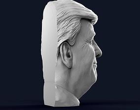 Donald Trump Half Bust - Relief 3D print model