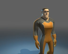 Super Hero 3D model rigged