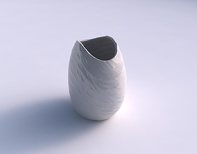 3D printable model Bowl compressed with rocky fibers
