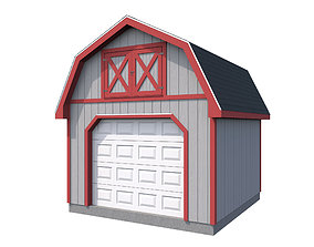 3D model Garage- Gambrel