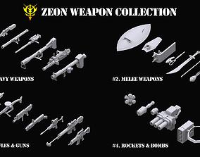 3D model Gundam Zeon Weapon Collection