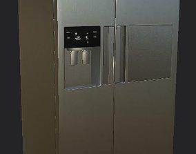 fridge refrigerator Low-poly 3D model realtime PBR