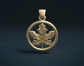 Maple Pendant 3D print model