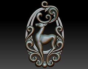 3D printable model Deer pendant