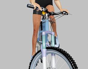 3D man riding bike