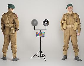 Man in British soldier uniform 273 3D asset